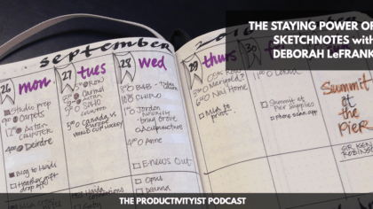 The Productivityist Podcast: The Staying Power of Sketchnotes with Deborah LeFrank