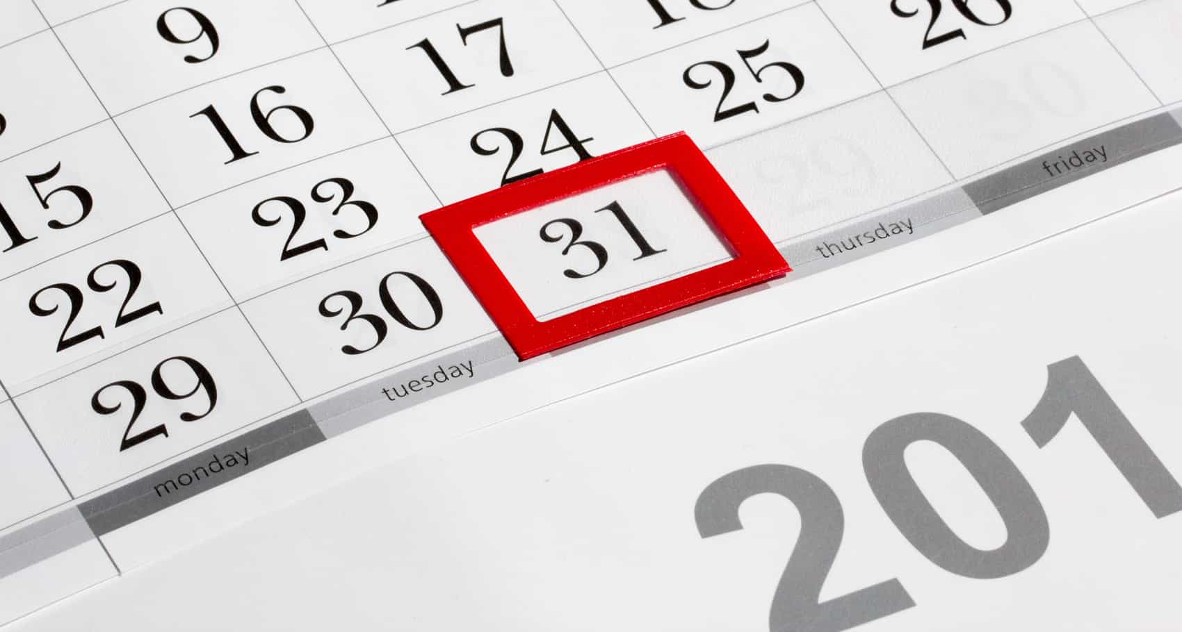 End Of Year Calendar : How to end this month and start next right